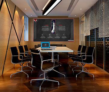 X-board壁画屏应用于会议系统